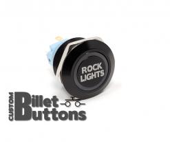 ROCK LIGHTS 22mm Laser Etched Custom Billet Buttons